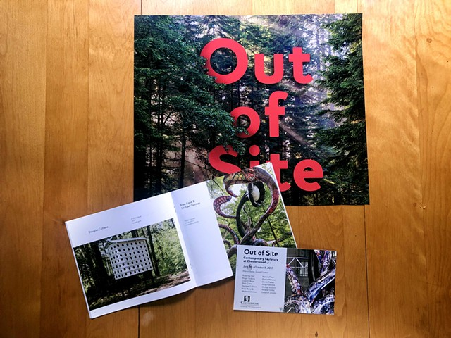 Out of Site: Contemporary Sculpture at Chesterwood print poster, catalog, and invite