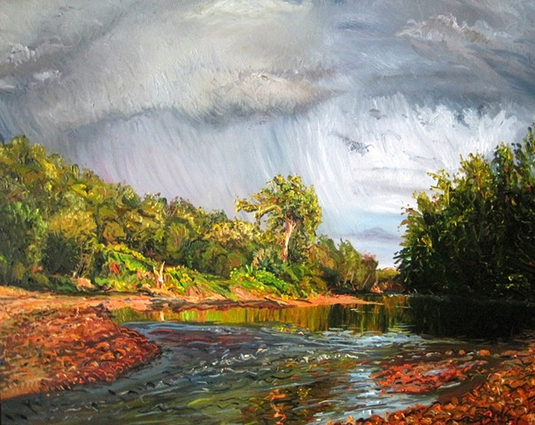 Storm Over the LeSueur River