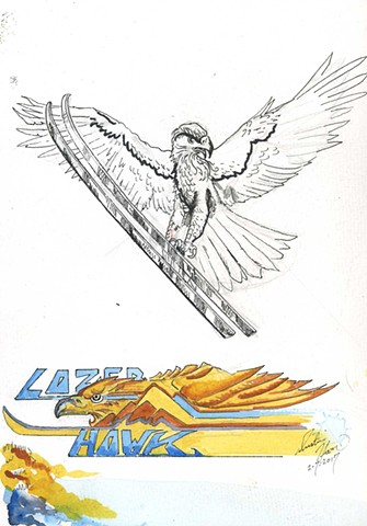 Logo Development for Lazer Hawk Skis