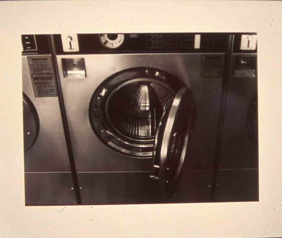 Black and White Photographic Print Laundry Man Series#1