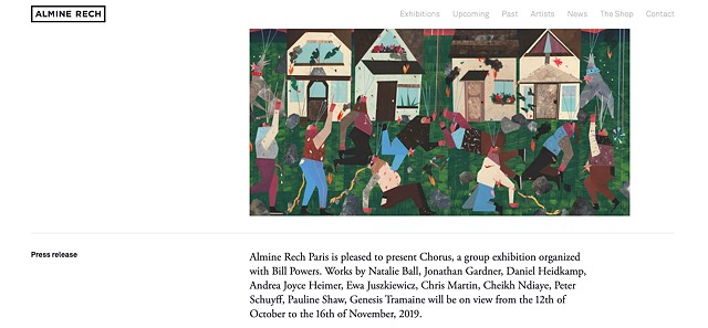 Almine Rech Paris is pleased to present Chorus, a group exhibition organized with Bill Powers.