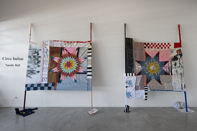 natalie ball indigenous indian art modoc klamath native american african american race racial narratives intersections decolonization captain jack installation painting textile quilt history auto ethnography Indian identity historical discourses visual ar