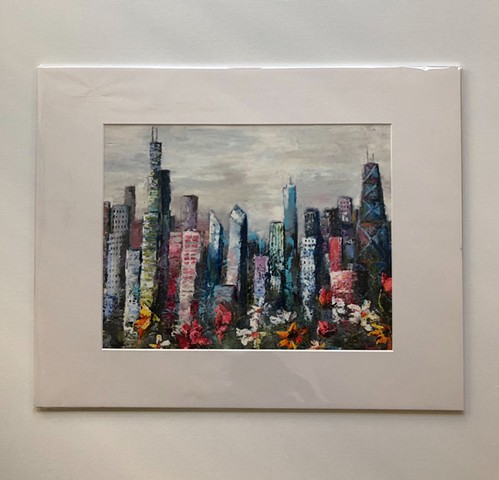 Print of Colorful City