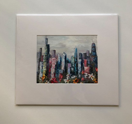 Print of Colorful city 14x16