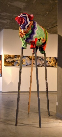 Steer on Stilts (no. 1)