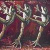 Dancing bull frogs
