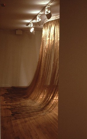 hair curtain, hair sculpture, fiber sculpture, fiber curtain, acrylic fiber, hair installation