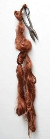 hair sculpture, fiber sculpture, braid sculpture, rapunzel sculpture