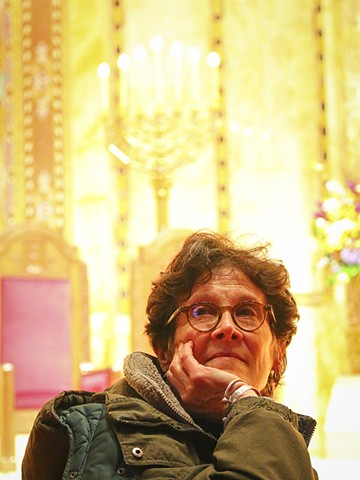 Jill at Synagogue