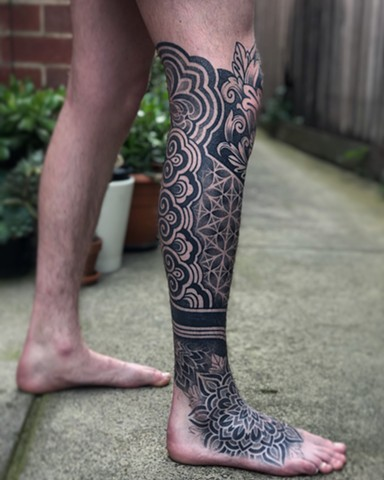 Mixed seamless pattern and ornamental designs by Alvaro Flores Tattooer from Melbourne