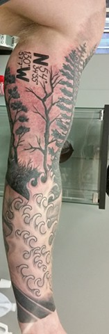 tree and water tattoo