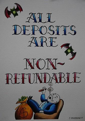 Deposit sign
