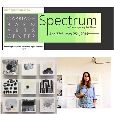 """SPECTRUM 2017:  ""Grayscale""  at Carriage Barn Arts Center Apr. 22nd -May 25th 2017."