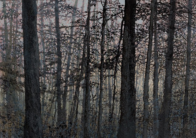 neo-Romantic landscape forest painting by Robert Mullenix