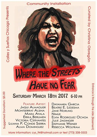 WHERE THE STREETS HAVE NO FEAR- Art Show