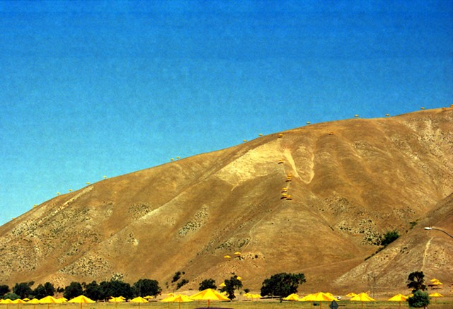 Christo, Umbrellas Project, Fort Tejon, Louis Jacinto, Landscape Photography