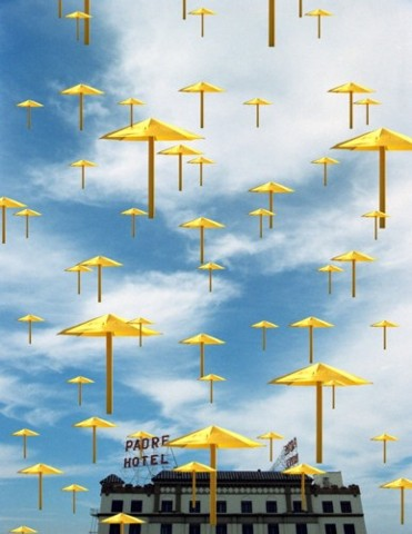 christo, umbrella project, louis jacinto, onodream, fine art, photography