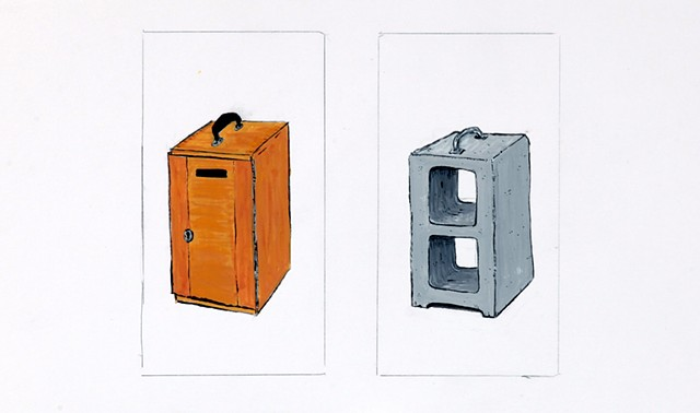 Object drawing (box and box)