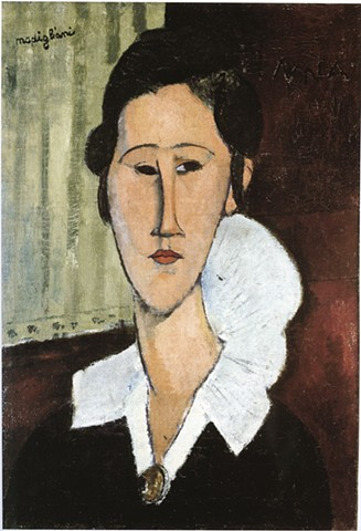 Portrait of Anna Zborowska by Modigliani