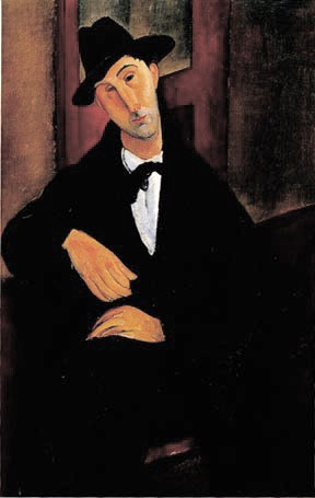Portrait of Mario Varoglio by Modigliani