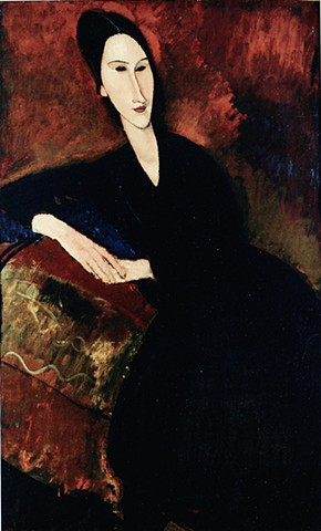 Portrait of Anna Zbrowska by A. Modigliani