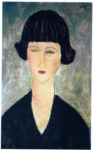 Young Woman with Dark Hair by Modigliani