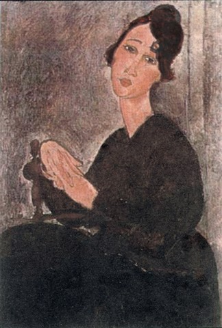 Alexandra after Modigliani's Seated Woman