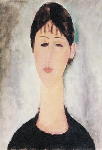Portrait of Mme. Zborowska by Modigliani
