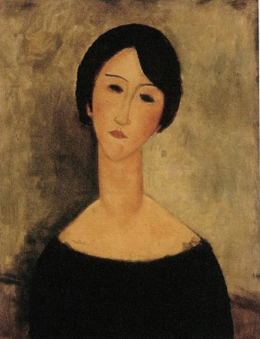 Woman in Black by Modigliani
