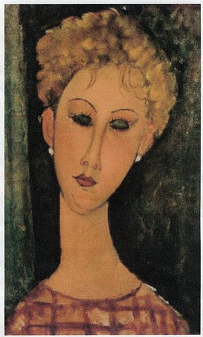 Portrait of a Woman with Earrings by Modigliani