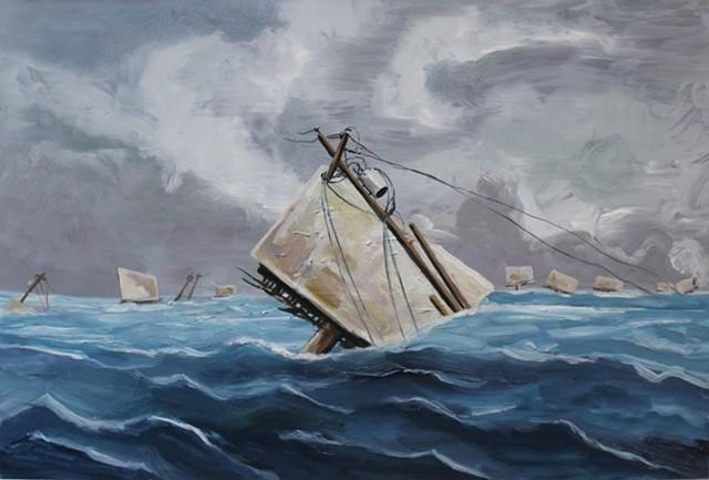 Phoenix Yacht Club Regatta (William Bradford 1856, New York Yacht Club Regatta)
