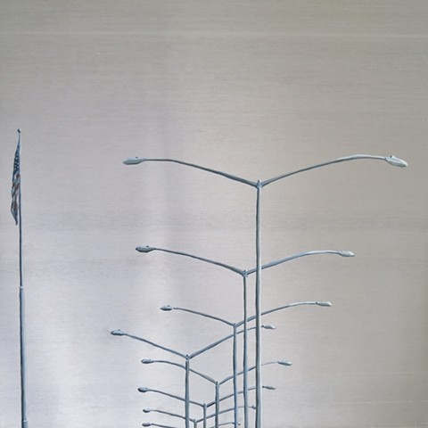 urban landscape utility poles