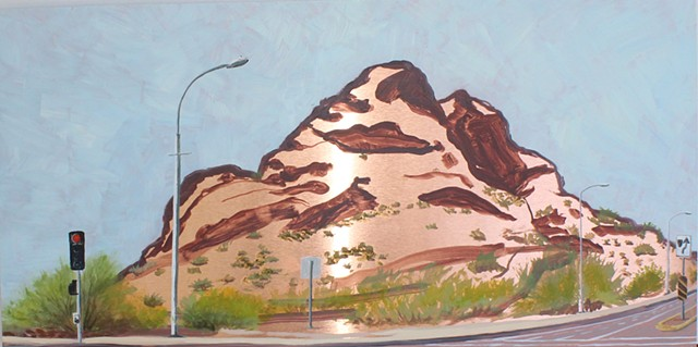 Detail- The Divide, Papago Buttes on McDowell Road (left)