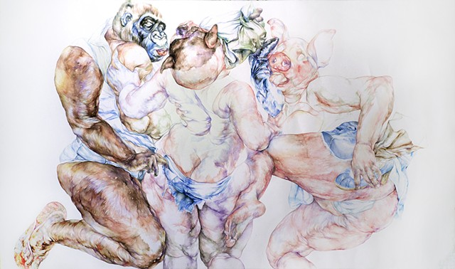 3 Graces after Rubens