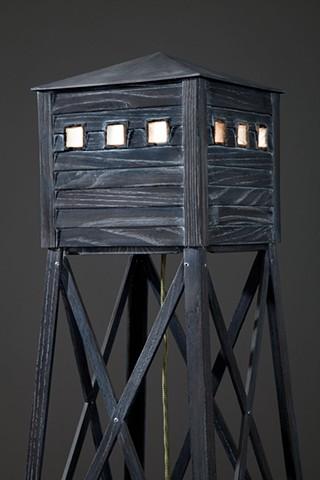 """detail of """"Vigilance"""" Lamp"""
