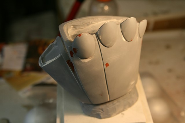 sculpting hand rough