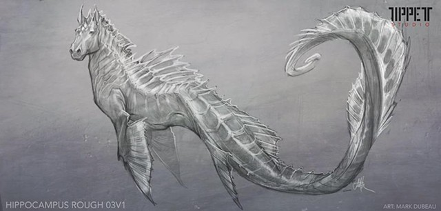 Hippocampus Rough concept