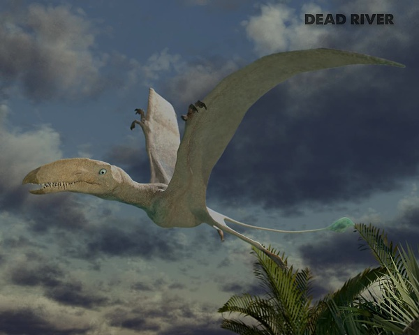 DEAD RIVER pterosaur model