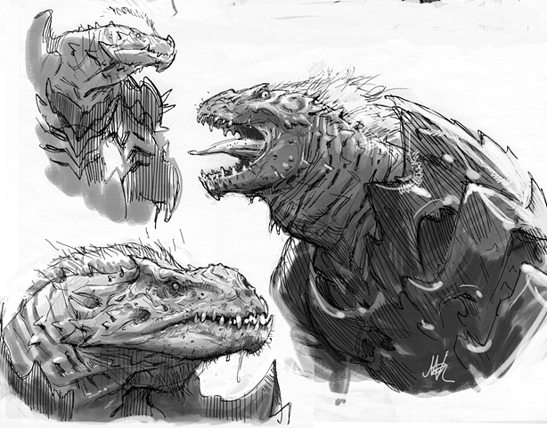 Lizard Monster Sketches