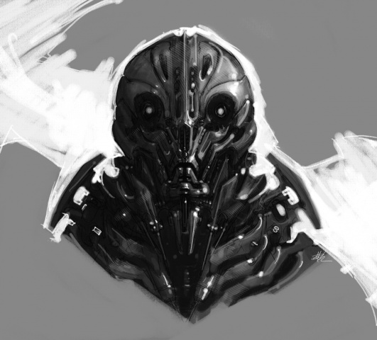 Robot Portrait Sketch