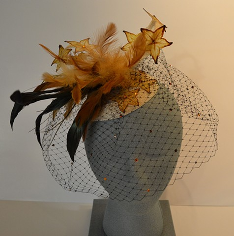 Ha Fascinator #2.  Wearable art.