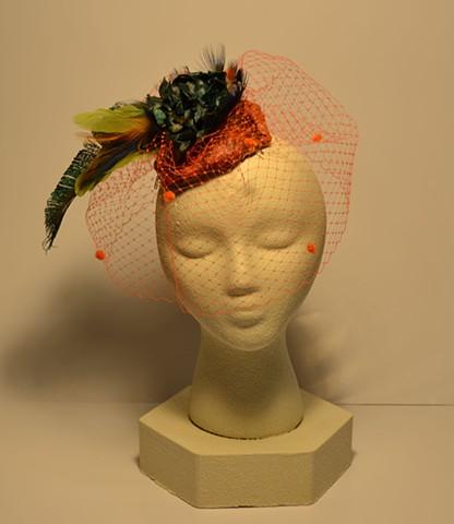 Hat Fascinator #1, Wearable art