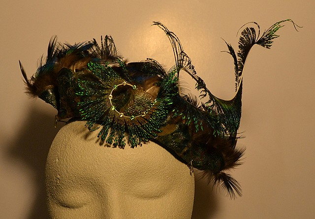 Hat Fascinator #3, Wearable art