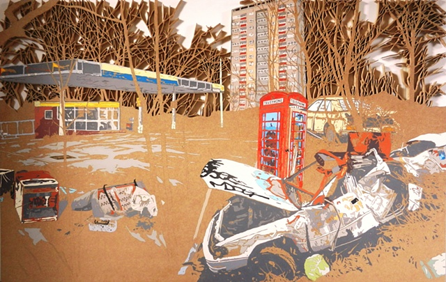 British lanscape no.1 matthew spencer urban painting