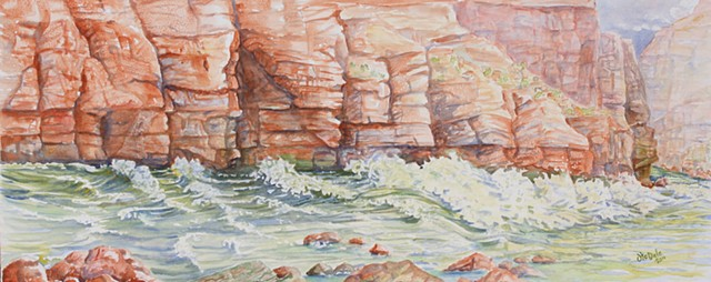 watercolors in Grand canyon