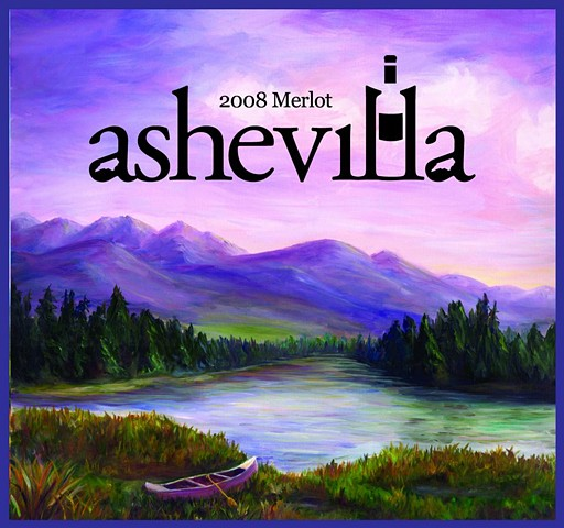 Ashevilla Wine logo & label development