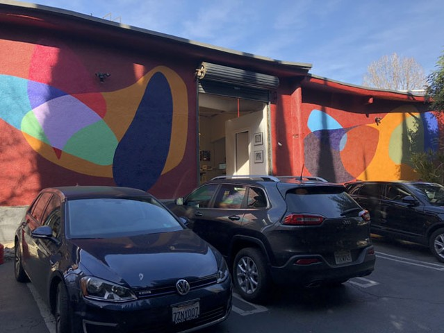 mural at 8730 Santa Monica Blvd, West Hollywood CA