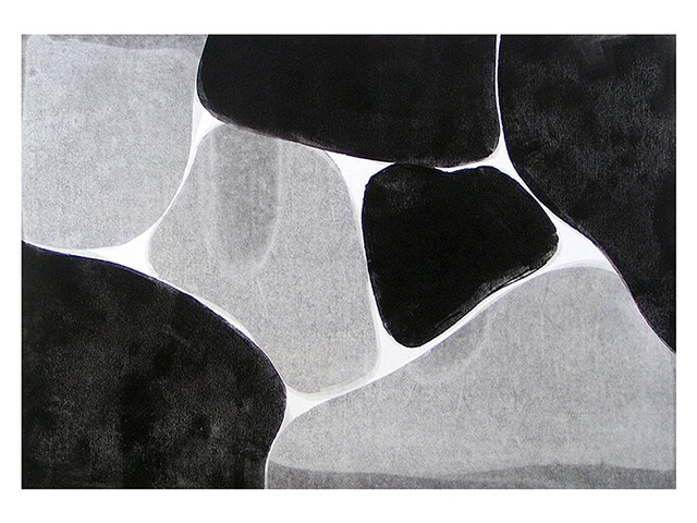 black and white and grey monotype Gary Paller