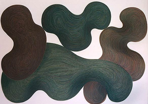 organic abstraction by los angeles artist gary paller