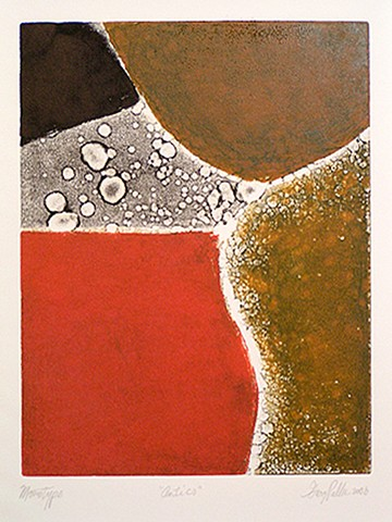 Gary Paller monotype on paper abstraction